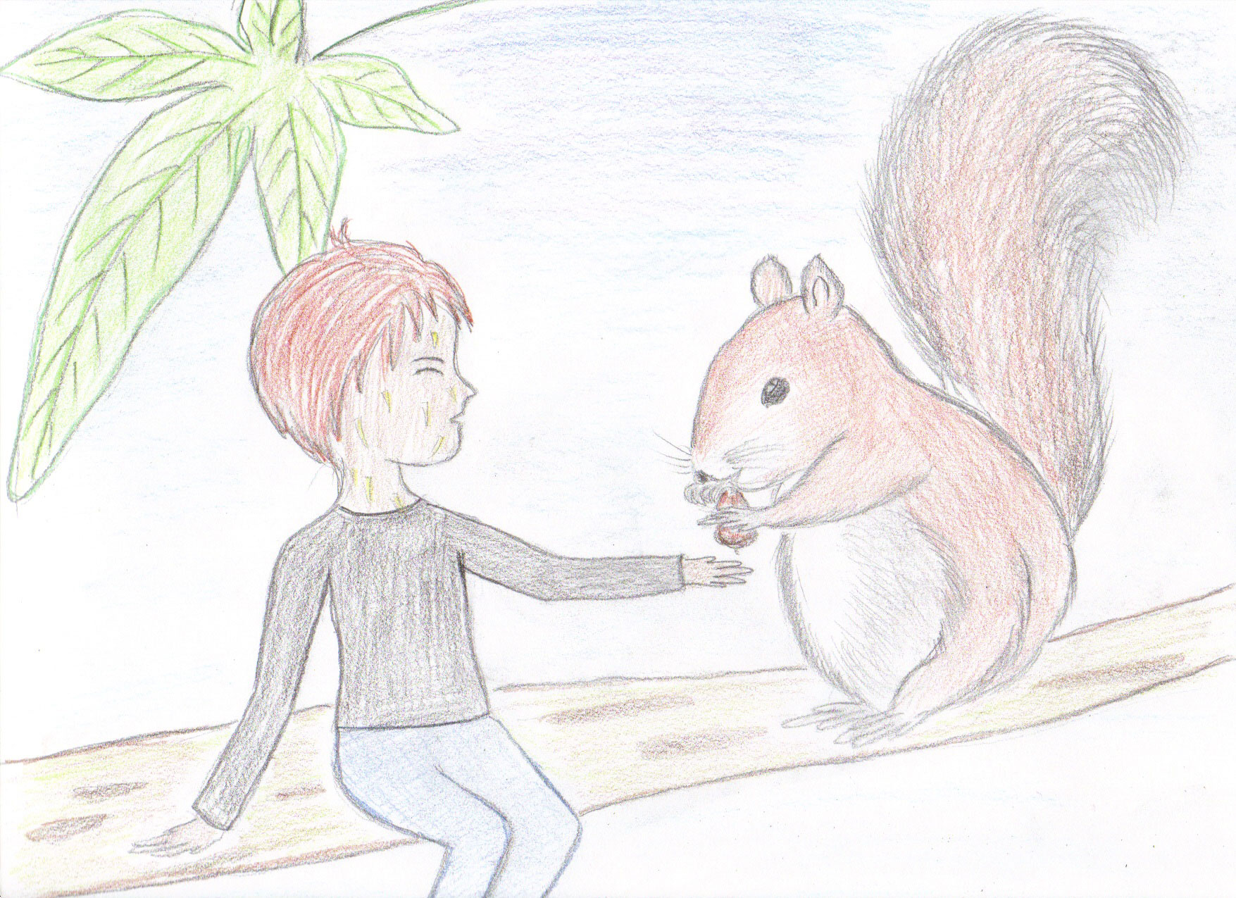 Aesculus and a Squirrel
